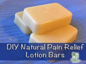 DIY natural pain relief lotion bars
