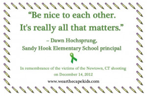 ... principal of Sandy Hook Elementary Let's remember those lost a year