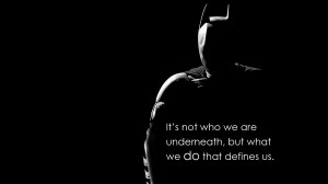 Made another Batman wallpaper with another one of my favourite quotes ...