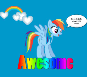 My Little Pony Friendship is Magic Rainbow Dash is awesome