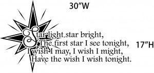 Wall Decal Of The Famous Nursery Rhyme Star Light Bright Used To