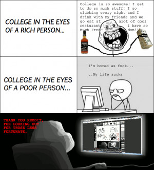 Rich College life vs. Poor College life