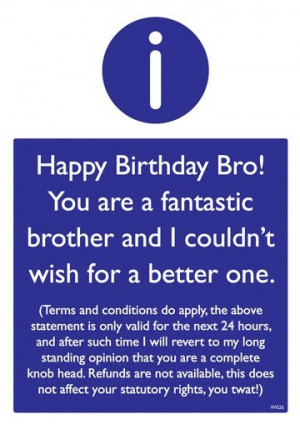 funny birthday quotes for brother funny birthday quotes for brother ...