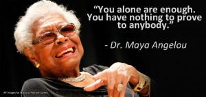 Maya Angelou Deep Ties The