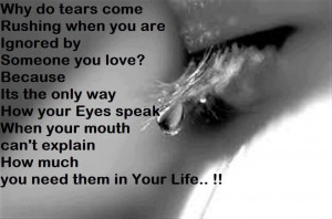 Why do Tears Come?. The reason is very True.