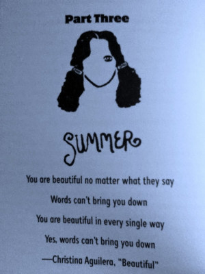 ... three of wonder each part of the book written by r j palacio is told