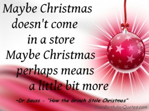 """Christmas Quote – Dr Seuss """"How the Grinch Stole Christmas"""""""
