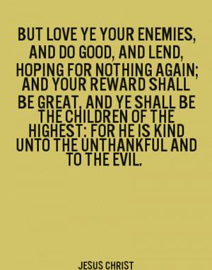 bible quotes about enemies quotesgram