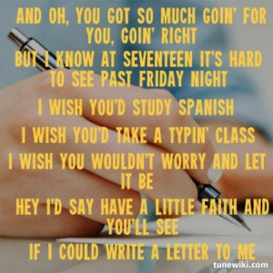 Brad Paisley:Letter To Me Lyrics
