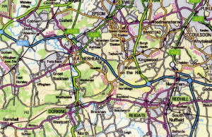map of kent area map surrey