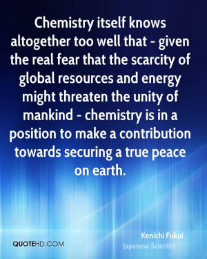 the scarcity of global resources and energy might threaten the unity ...