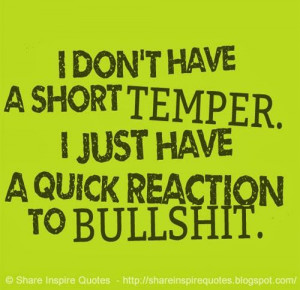 ... just have a quick reaction to BULLSHIT. #funny #bullshit #quotes