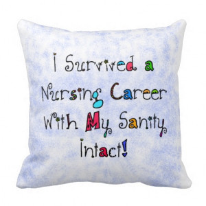 Funny Nurse Retirement Pillow