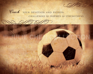 ... Coach Thank You - Coach Keepsake - Sports Art - Sports Quote