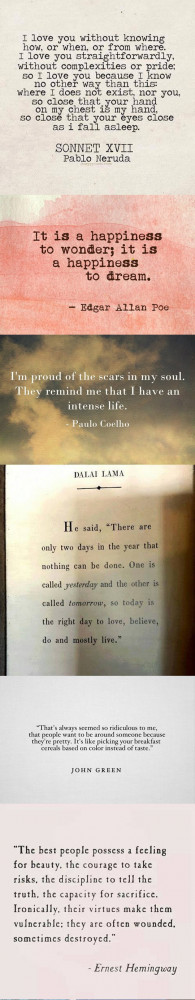Some beautiful quotes to get through the day