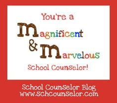 School Counselor Blog: M (Magnificent and Marvelous) School Counselor ...