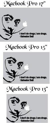Salvador Dali Vinyl Macbook quote Decal Art