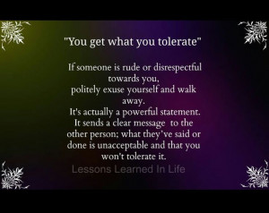 Disrespect Quotes Don't tolerate disrespect,