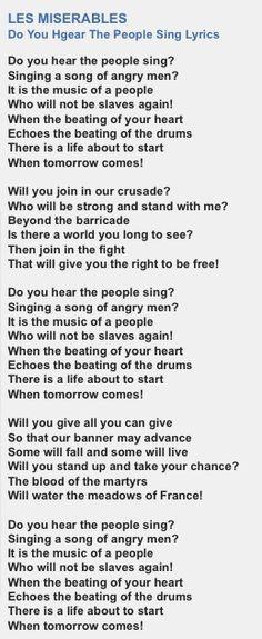 Les Misérables OST - Look down Lyrics - YouTube