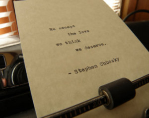 Stephen Chbosky Quote,