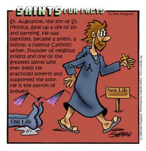 St. Augustine of Hippo Cartoon