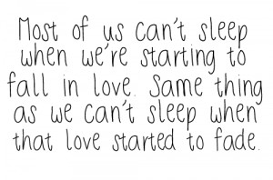 Most of us can't sleep – Best Love Quote