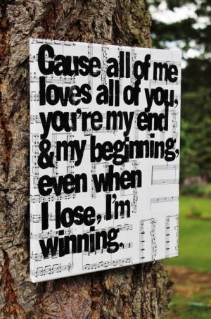 All Of Me John Legend Sheet Music 11x14 - all of me - john