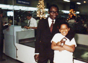 Barack Obama is seen with his father Barack Obama Sr in an undated ...
