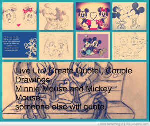 live_luv_create_quote__couple_drawing_mouse_and_minnie_mouse-342948 ...