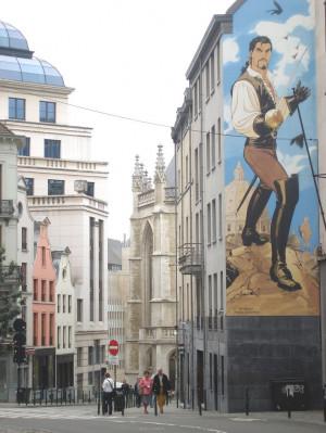 Belgian cities - 'comic' street in Brussels, capital city, Belgium ...