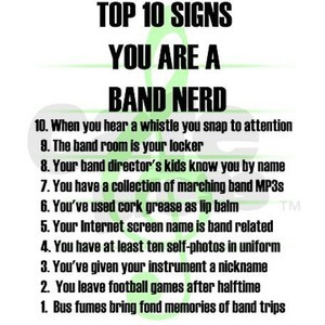 Band Nerd Top 10 Signs Pink can cooler by Admin_CP131673- 482698735