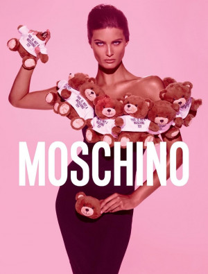 ... Gets Covered in Stuffed Animals for Moschino 'Toy' Fragrance Ad