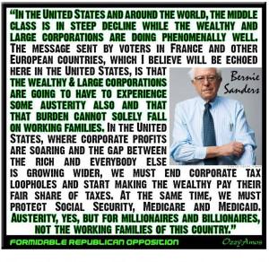 Bernie Says. . .