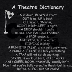 Theater dictionary (Except that