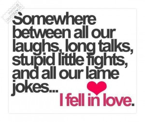 fell in love with you quotes
