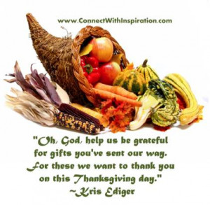 Go to large picture quote on -Thanksgiving Day God Help Us Be Grateful