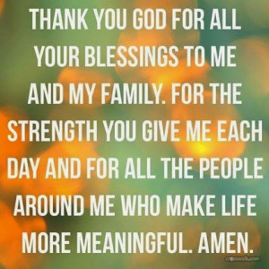 Thank You God For Your Blessings