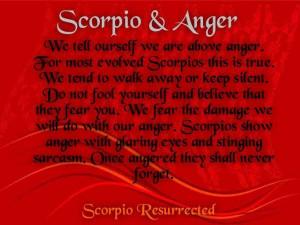 ... Scorpio Resurrection, Anger Quotes, Scorpio Evolution, Scorpio Anger