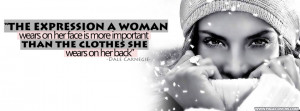 Dale Carnegie The Expression A Woman Wears Cover