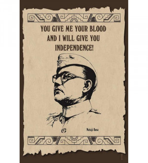 Shopisky Poster - Inspirational Quotes Of Netaji Subhash Chandra Bose