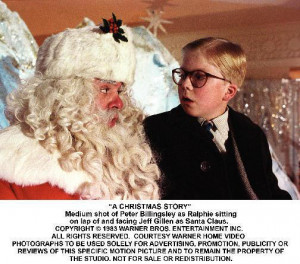 Christmas Story Quotes Ralphie making a christmas