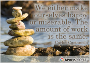 Motivational Quote - We either make ourselves happy or miserable. The ...
