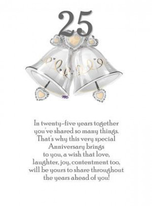 25th Anniversary Quotes Quotations For Silver Wedding