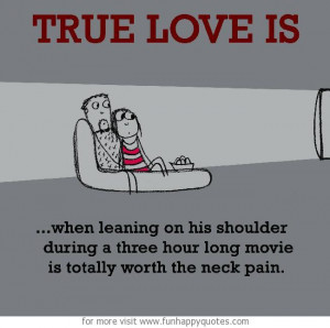True Love is, watching movie together.