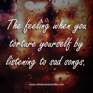 Sad Songs Quotes