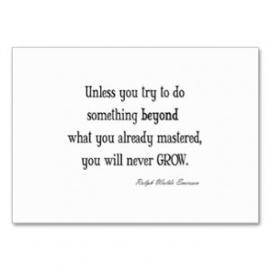 Vintage Emerson Inspirational Growth Mastery Quote Business Cards