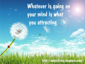Law of attraction in reverse!