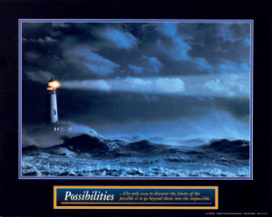 Motivational / Inspirational Posters - Possibilities - Lighthouse