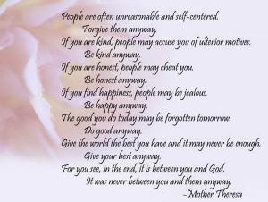 35+ Penetrative Mother Teresa Quotes