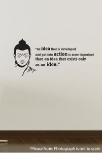 Details about REMOVABLE WALL DECOR VINYL STICKER QUOTES BUDDHA - IDEA